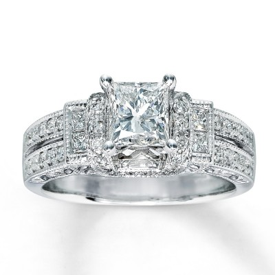 Diamond Engagement Rings Princess Cut Beautiful