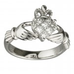 diamond irish engagement rings calddagh
