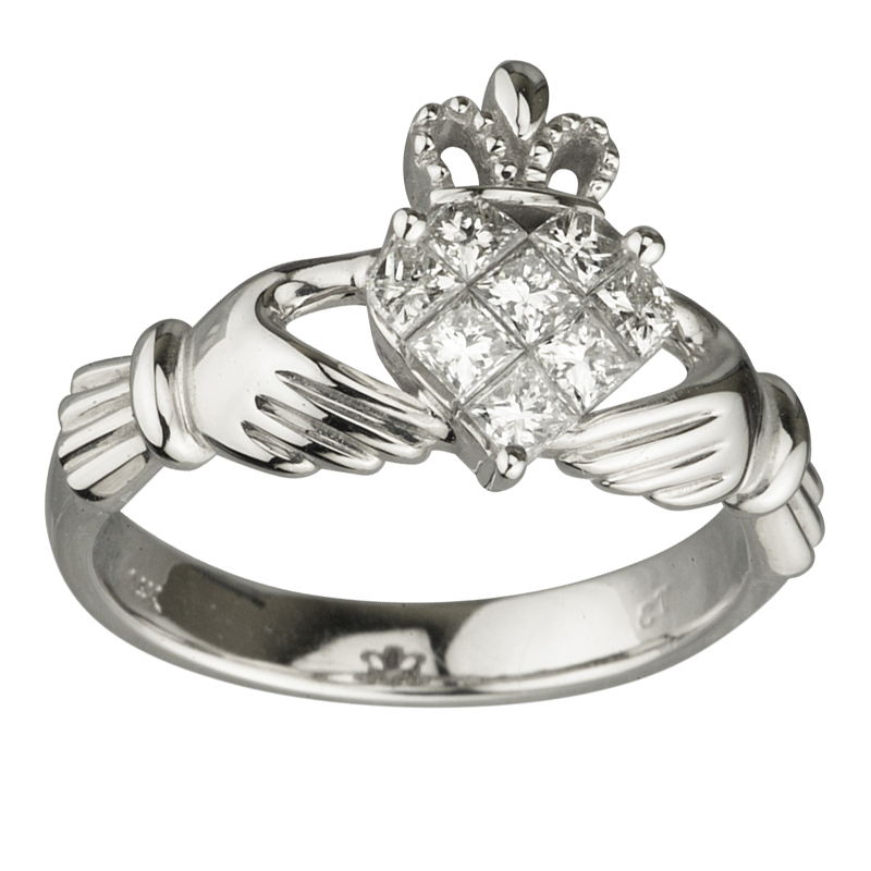 Irish Engagement Rings Cheap: diamond irish engagement rings calddagh