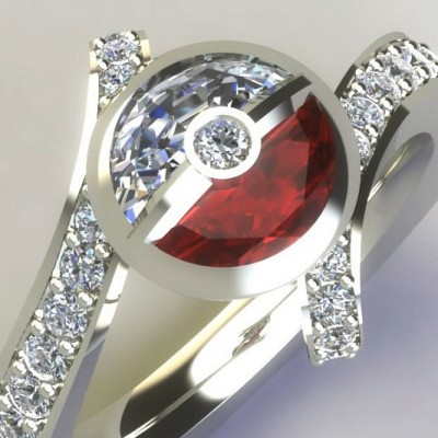 Diamond Pokemon Engagement Ring Material