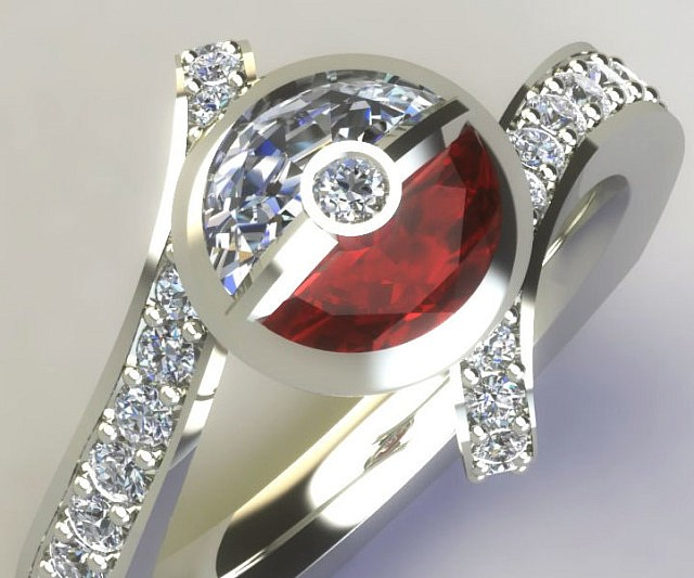 Pokemon Engagement Ring Box: diamond pokemon engagement ring material