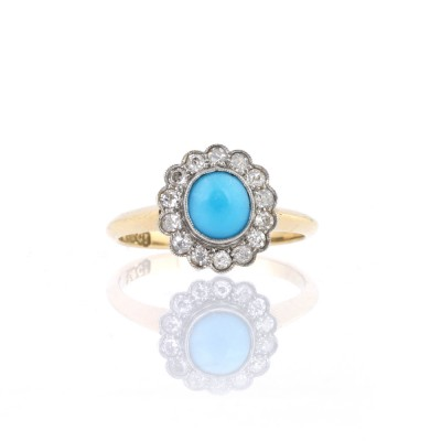 Diamond Turquoise Engagement Rings Design