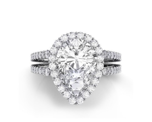 Double Pear Engagement Rings Shanks