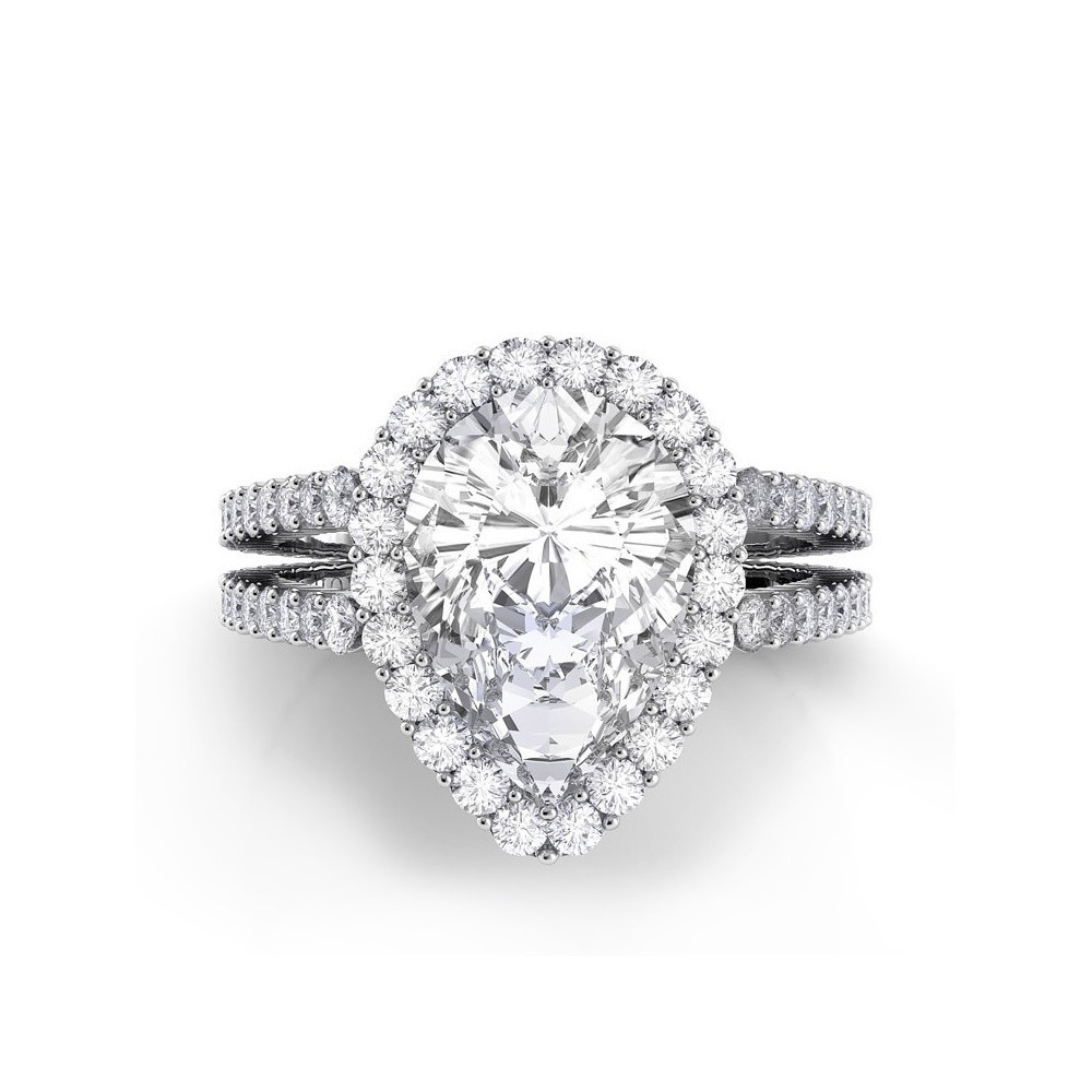 Pear Engagement Rings Canada: double pear engagement rings shanks