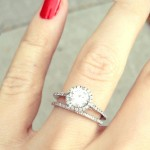 double thin band engagement ring design