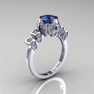 Edwardian Alexandrite Engagement Ring Antique