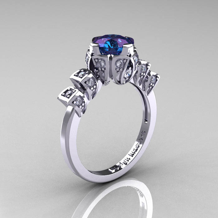 Alexandrite Engagement Ring Meaning: edwardian alexandrite engagement ring antique