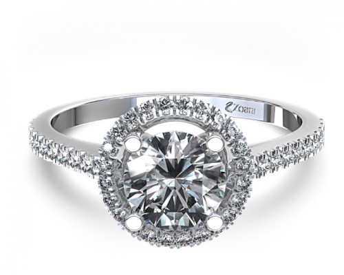 Elegant Halo Diamon Engagement Ring Design