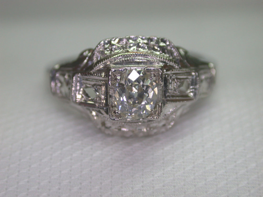 eBay Engagement Rings Uk: estate ebay engagement rings platinum