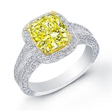 Fancy Canary Diamond Engagement Rings Yellow