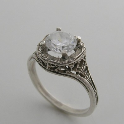 Feminine Filigree Engagement Rings Design