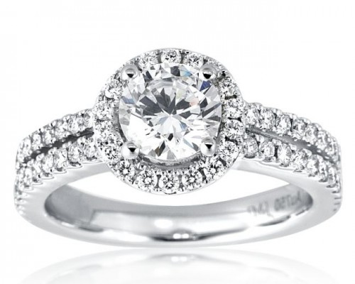 Floating Halo Diamond Engagement Ring Perfect