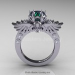 fly alexandrite engagement ring design