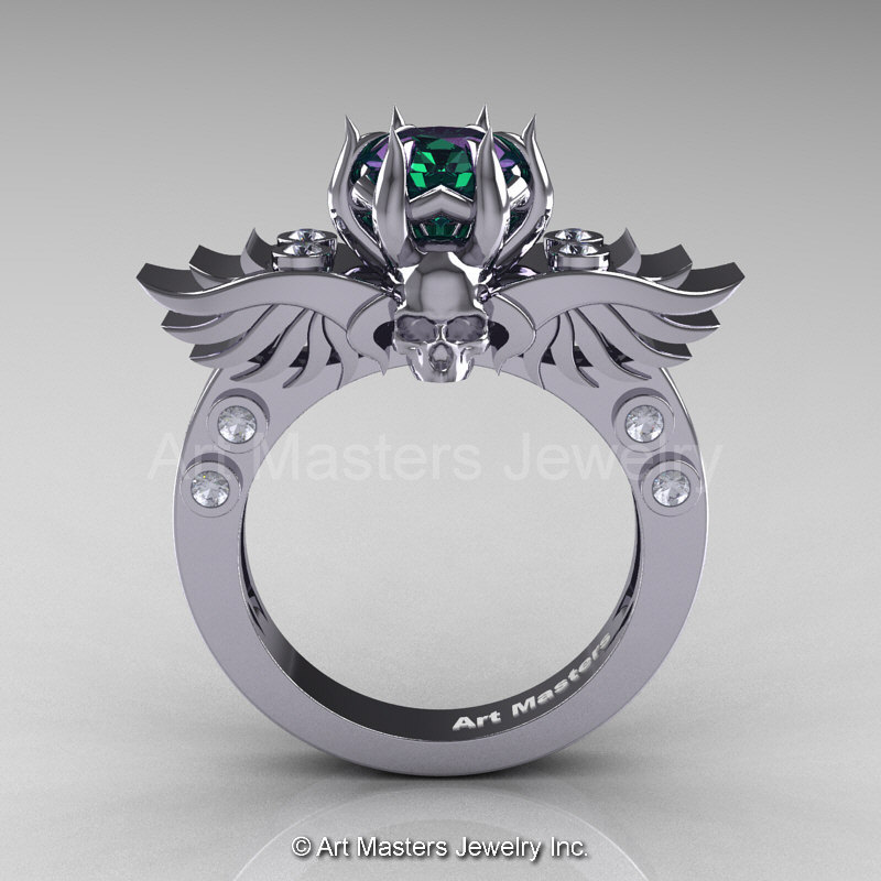 Alexandrite Engagement Ring Meaning: fly alexandrite engagement ring design