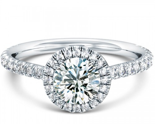 France Halo Engagement Ring Design