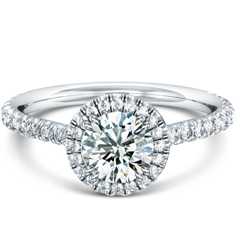 Halo Engagement Ring Zales: france halo engagement ring design