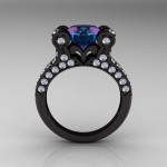 french alexandrite engagement ring vintage