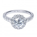 gabriel halo engagement ring style