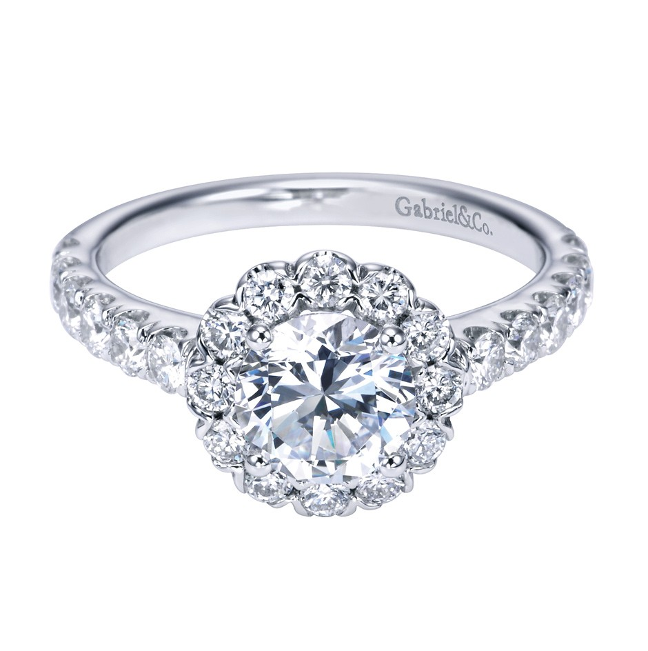 Halo Engagement Ring Zales: gabriel halo engagement ring style