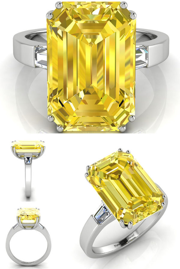 platinum diamond rings yellow ring beaudry canary designers michael fancy engagement jewelry