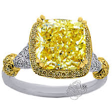 Glamor Canary Diamond Engagement Rings Style
