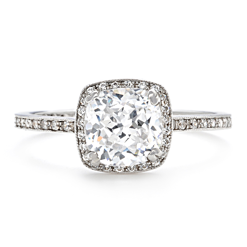 Thin Band Engagement Rings Uk: glamor thin band engagement ring design