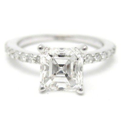 Good Asscher Cut Engagement Ring Design