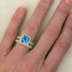 good blue topaz engagement rings beautiful