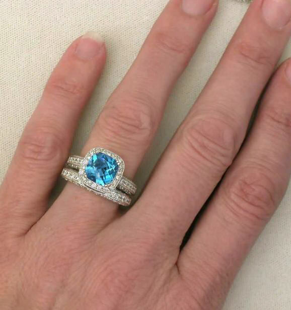 Blue Topaz Engagement Rings Meaning: good blue topaz engagement rings beautiful