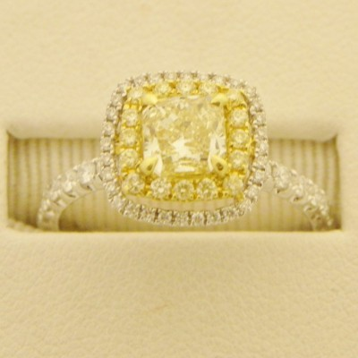 Good Canary Diamond Engagement Rings Pearl