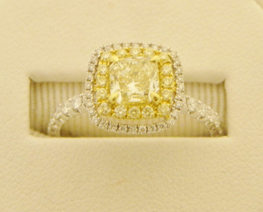 Canary Diamond Engagement Rings Uk: good canary diamond engagement rings pearl