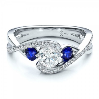 Good Diamond And Sapphire Engagement Rings Design