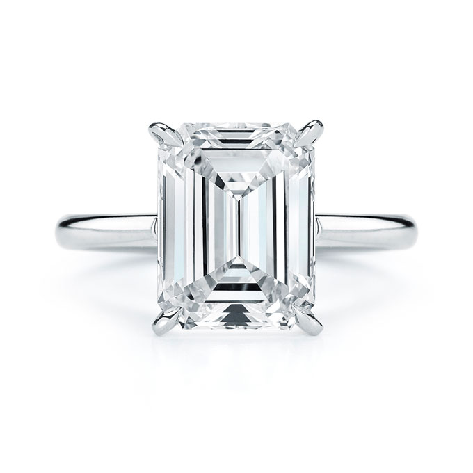 Emerald Cut Engagement Ring Meaning: good emerald cut engagement ring design