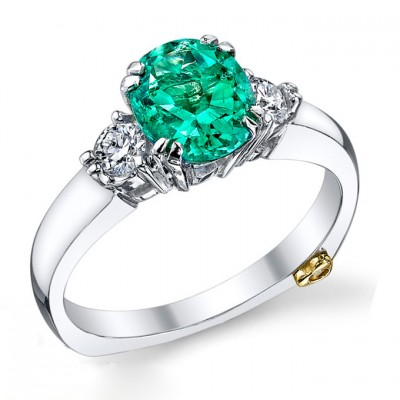 Green Colored Engagement Rings Design