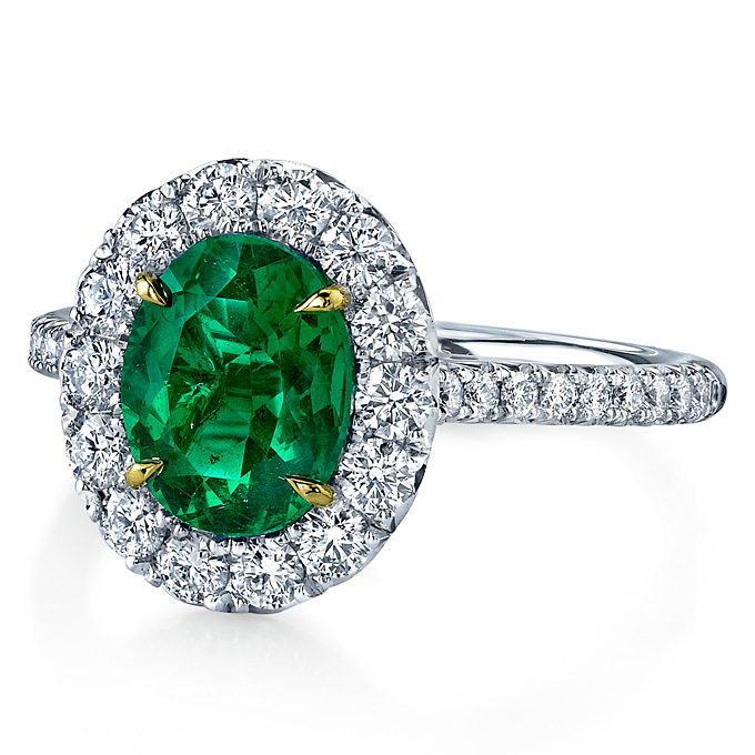 Emerald Engagement Rings Vintage: green-emerald-engagement-ring-modern