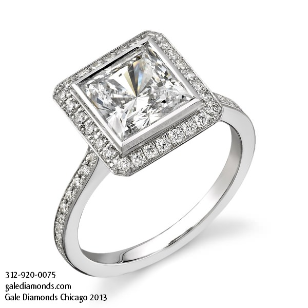Engagement Rings Chicago Cheap: halo engagement rings chicago style