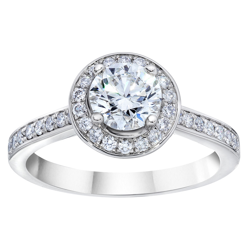 halo engagement rings costco diamond - Costco Wedding Ring