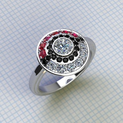 Halo Pokemon Engagement Ring Full