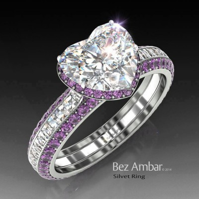 Heart Engagement Rings Houston Shape