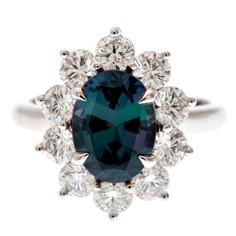 Alexandrite Engagement Ring Meaning: incredible alexandrite engagement ring color