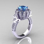 inspiration blue topaz engagement rings design