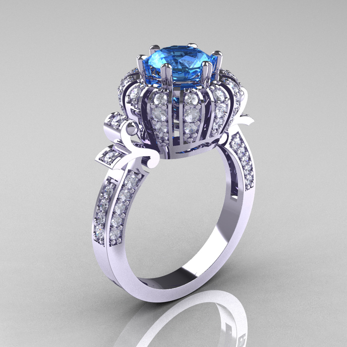 Blue Topaz Engagement Rings Meaning: inspiration blue topaz engagement rings design