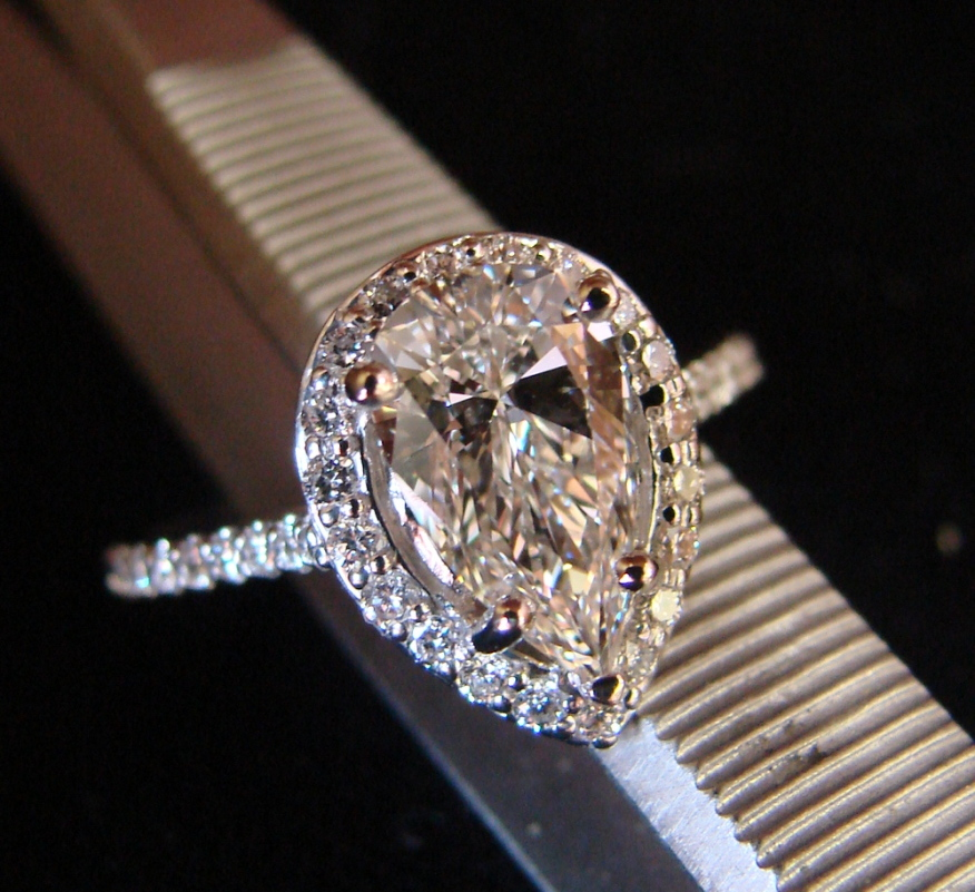 Pear Engagement Rings Canada: jaymark pear engagement rings golden