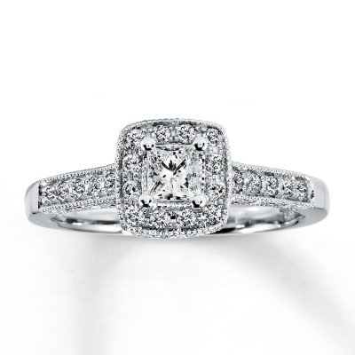 Kay Engagement Rings Princess Cut Pearl