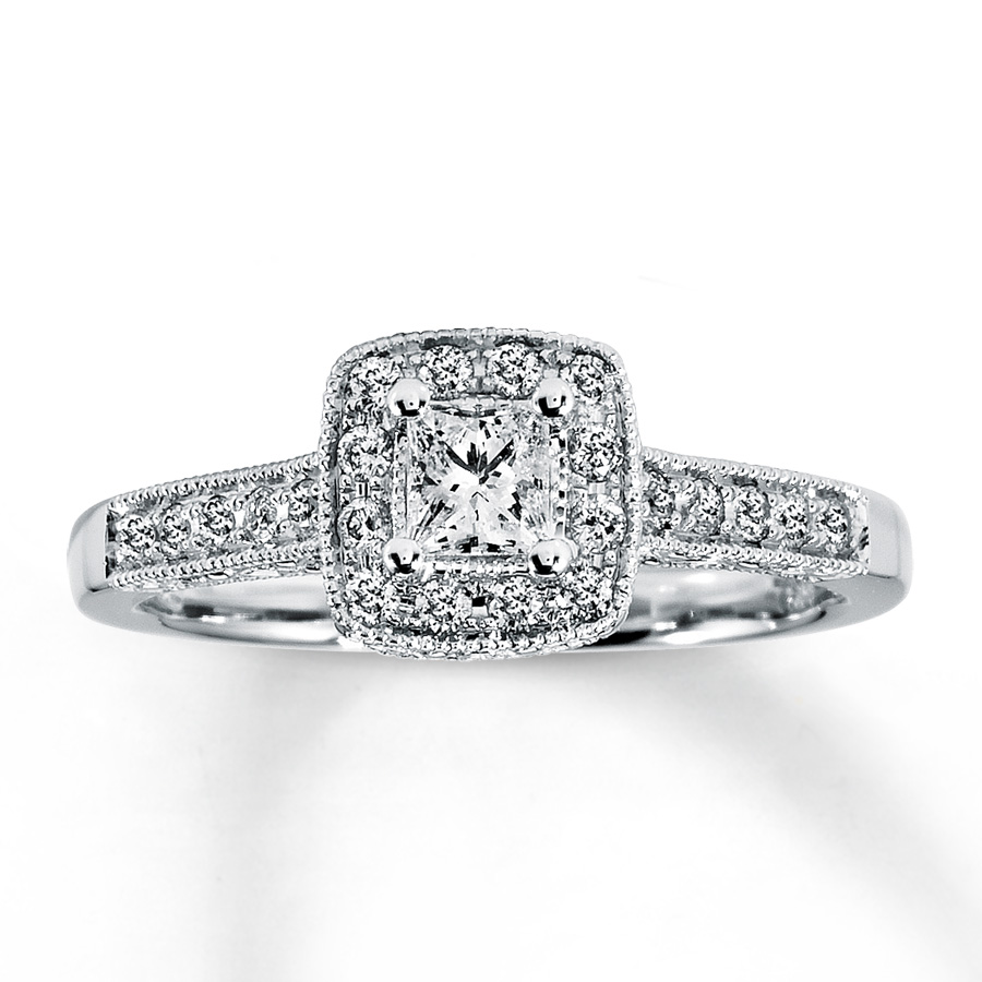 Engagement Rings Princess Cut Zales: kay engagement rings princess cut pearl