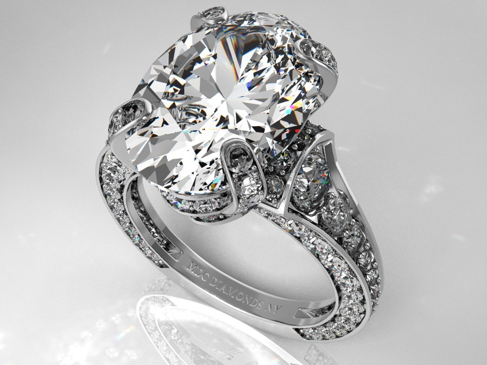 Pave Engagement Rings Meaning: large pave engagement rings oval