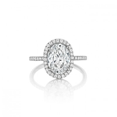 Leo Oval Cut Engagement Rings Ingwer