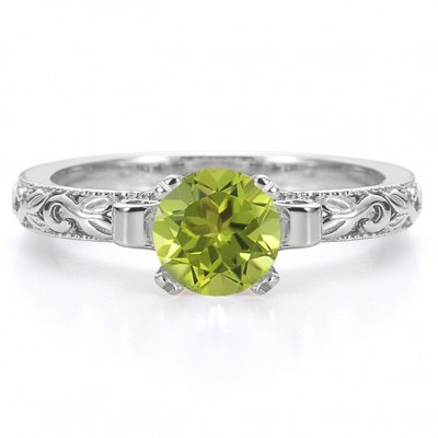 Like Peridot Engagement Rings Green
