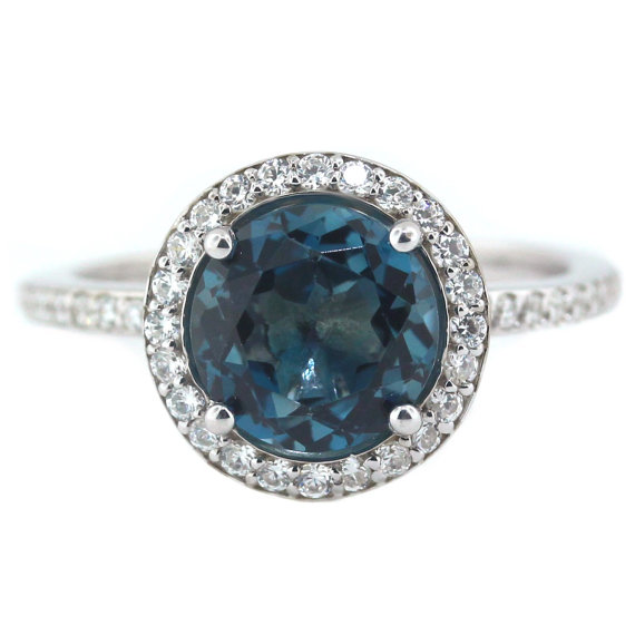 Blue Topaz Engagement Rings Meaning: london blue topaz engagement rings style