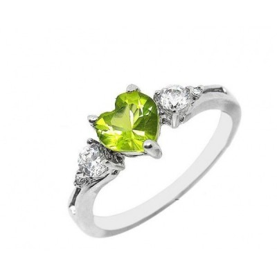 Love Peridot Engagement Rings Shaped